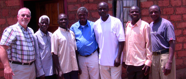 Jeff with Pastors in Solwezi, Zambia